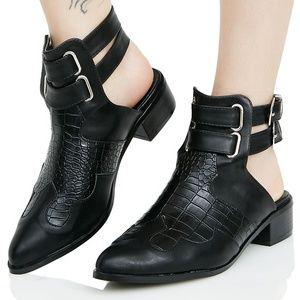 Cutout Black Boots